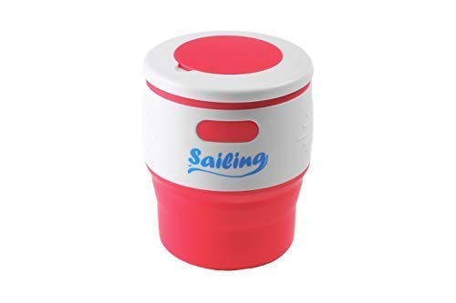 Sailing Collapsible Portable Reusable Silicone 12 fl oz DrinkingCoffee CupMug 100 food grade silicone BPA Free Rose Red