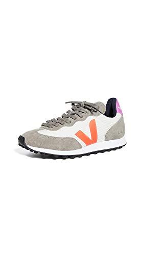 Price comparison product image Veja Women's Riobranco Sneakers,  Gravel / Orange Fluo / Ultraviolet,  8 Medium US