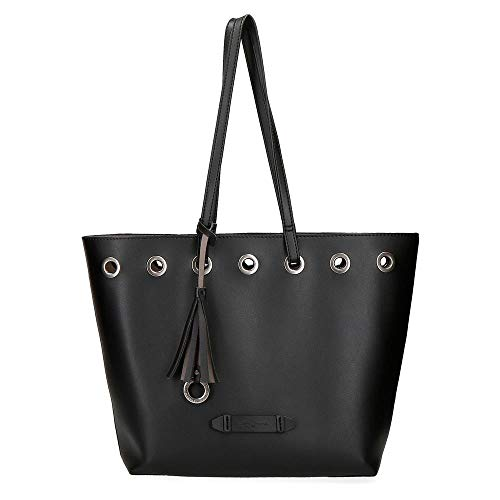 Pepe Jeans Angelica Bolso Tote Negro 31x30x11 cms Piel Sintética