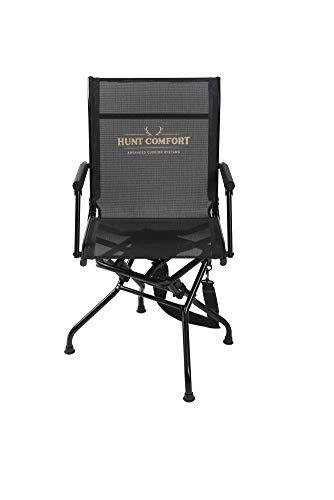 HUNT COMFORT Multi Position Mesh Lite Swivel Hunting Chair