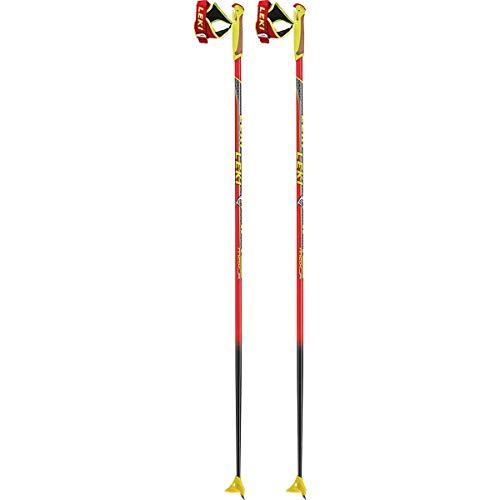 LEKI Kinder HRC Junior Langlaufstöcke, Rot, 115 cm