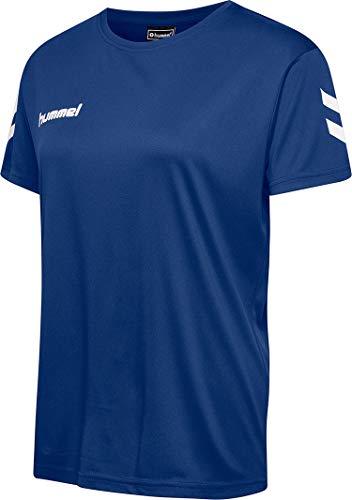 hummel Damen CORE Poly Tee Woman S/S T-Shirts, True Blue, M