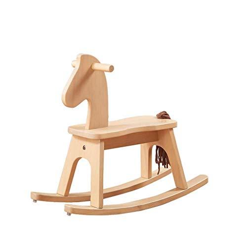 JWDYA Outdoor Rocking Horse, Safe Wooden Rocking Horse, Rocking Horse for Children 1-3 Years Old