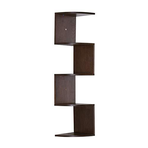 Librería de la esquina de la esquina de la estantería, la estantería simple de roble de tres capas / de cinco capas, la sala de estar de la sala de estar de la sala de estar, la multifunción puede alm