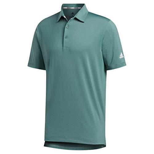 adidas Golf Mens Ultimate365 20 Crestable Polo Shirt Tech Emerald L