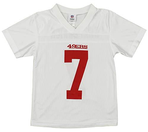 NFL Youth Boys San Francisco 49ers Colin Kaepernick #7 Jersey, White, Large