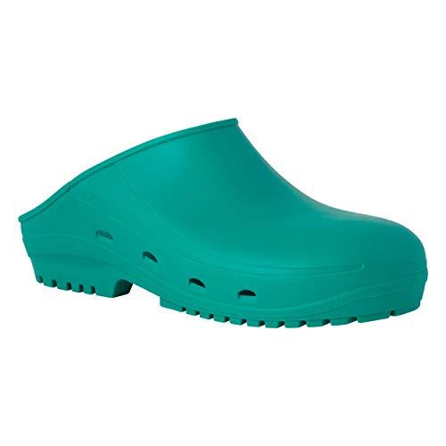 REPOSA Easy Zuecos Sanitarios, Zapatos Sanitarios Tipo Zueco, polímero Natural antiestático, sin látex, capellada Superior Cerrada, Agujeros Laterales Plantilla anatómica Suela SRC
