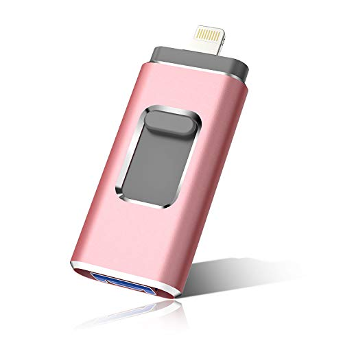 iOS Flash Drive for iPhone Photo Stick 512GB Memory Stick USB 3.0 Flash Drive Thumb Drive for iPhone iPad Android and Computers (512GB Pink)