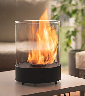 Chimenea de mesa de bioetanol - Combustión más largo 5h - Calentador de 3kW - Interior/exterior - Combustible 1L gratis - Regalos de la casa y del jardín – Chantico Glassfire - Planika