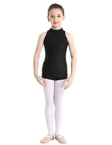 TiaoBug Maillots Danza Ballet Gimnasia Rtmica Nias Leotardo Body Bsico Clsico de Patinaje Ejercicio Monos de Danza Elstico Disfraz Bailarina Actuacin Negro 3-4 Aos