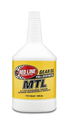 Red Line (50204) SAE 75W80 API GL-4 Manual Transmission and Transaxle Lubricant - 1 Quart (Pack of 6)