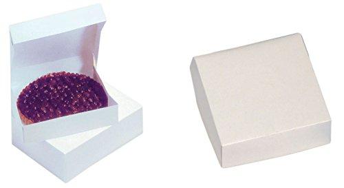 Cuisineonly–Scatola Patissiere Carree bianca: Scatola a per savarin 50scatole 20x 10cm. Casa: uso unico (Scatole ha dolci–imballaggi per la glace)