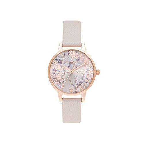 Olivia Burton Damen Analog Quarz Uhr mit Leder Armband OB16VM47