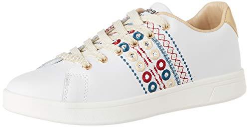 Desigual Shoes Cosmic New Exotic, Scarpe da Ginnastica Donna, Bianco Blanco 1000, 36 EU