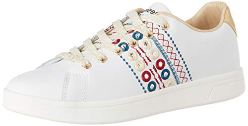 Desigual Damen Shoes Cosmic New Exotic Sneaker, Weiß (Blanco 1000), 41 EU
