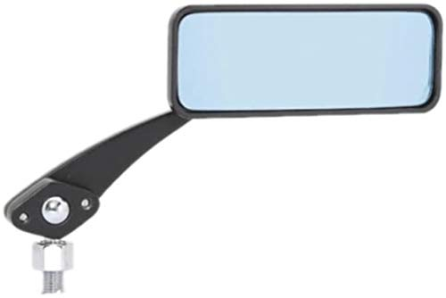タナックス バイクミラー ナポレオン ボールジョイントミラー(角) ブラック ブルー鏡 左右共通 10mm 正ネジ AMB-104-10