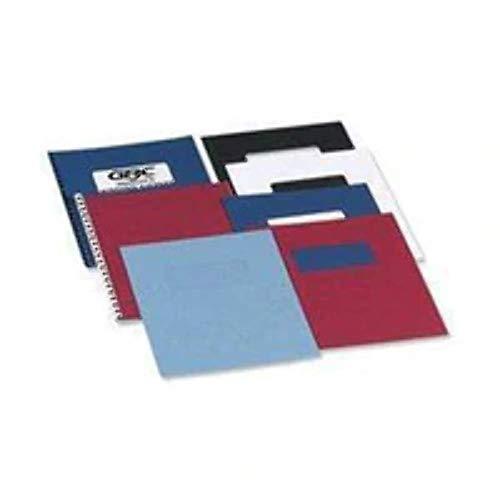 LeatherGrain Umschlagmaterial, A4, 100 Stück, dunkelrot