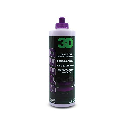 3D Speed All In One Polish/Wax - 16 oz. | Clear Coat Car Polish and Wax in One | Paint Protection, Swirl Correction | Made in USA | All Natural | No Harmful Chemicals
