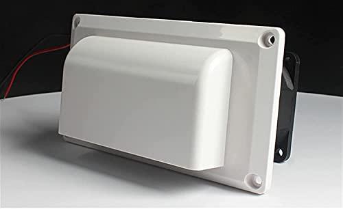 FCPLLTR Ventilador de escape caravana autocaravana remolque lateral ventilación ventilación ventilación ventilador RV Blanco 25W para camper Remolque barco marino yate marino alto volumen flujo de air