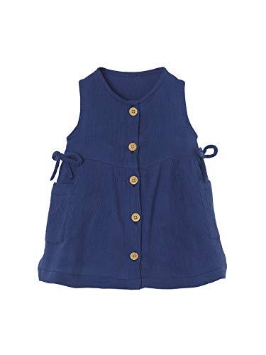 Vertbaudet Baby Mädchen Kleid mit Taschen blau 92