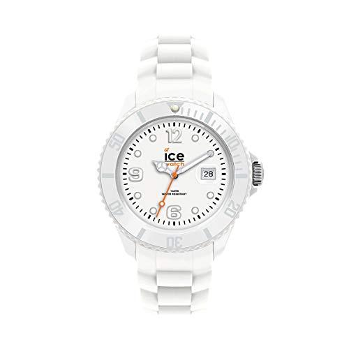 ICE-WATCH Ice Forever White - Reloj Blanco para Hombre con Correa de Silicona, 000134 (Medium)