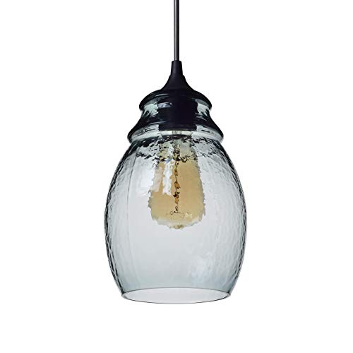 CASAMOTION Pendant Light Handblown Glass Drop Hanging Light,...