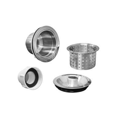 Stainless Metal Drain Assembly Salon Shampoo Bowl Backwash Sink Hair Strainer