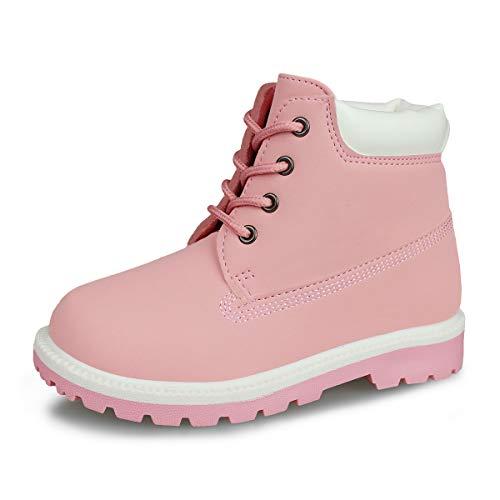 Pink Kids Work Boots
