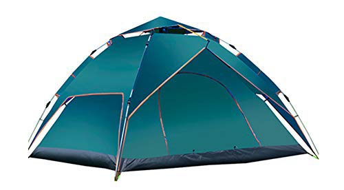 KKING Outdoor Pop-Up Tent, Can Accommodate 3 To 4 People, Two Airy And Comfortable Tents, Suitable for Camping,Dark green
