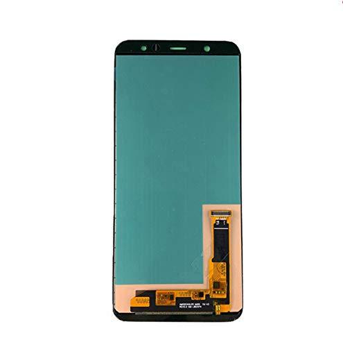 LYXDZW Pantalla De Teléfono Móvil Ajuste Fit For Samsung A6 Plus 2018 A6 Plus Pantalla A605 Componentes Digitalizador Samsung A605 A605F A605FD Pantalla táctil de visualización FF (Color : Black TFT)