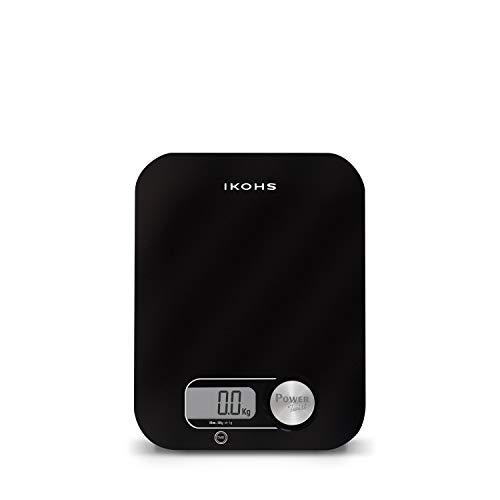 IKOHS PONDUS - Báscula de Cocina ecológica generación de energía, sin pilas ni baterías (Negro)