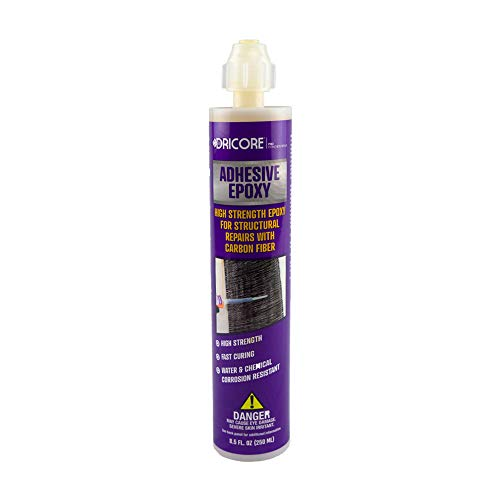 DRICORE PRO Concrete Repair Adhesive Epoxy | High Power Low Flexibility Adhesive to Fix Cement Pits, Holes, and Cracks with Injection, Carbon Fiber, Fiberglass, Reinforced Polymers & More