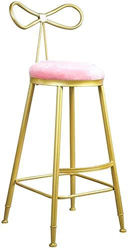 Elegant Home D & Eacute; COR Barhocker mit Fußstütze & Rücken Rattan Wicker Barhocker Stuhl für Kitchen Pub CAF & Eacute;Frühstückstheke Khaki/Schwarz 75CM Modernes Design