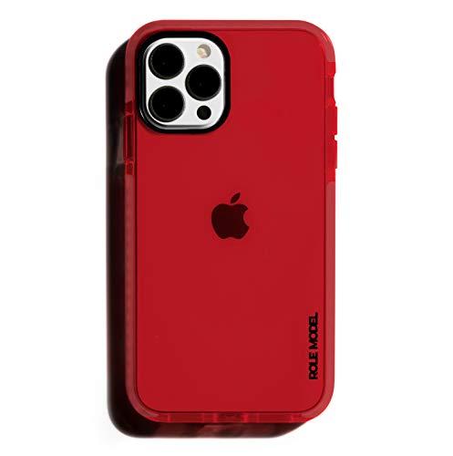 ROLE MODEL CYBERCASE BLOODRED Edition Handy Schutzhülle für Apple iPhone, Intensiv Leuchtend, mit Airbag Technologie (iPhone 12/12 Pro)