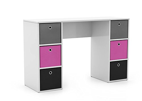 and 1 Storage Cube Target Marketing Systems 3 Piece Soho Study Set with 1 Writing Desk 1 3-Shelf Bookcase White