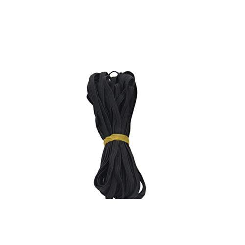 SUPVOX Cordón elástico trenzado Diy Pesado elástico tejido de punto elástico cintas de cuerda de carrete 10m x 6mm (negro)