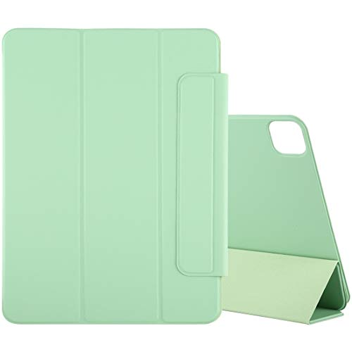 LM For Horizontal Flip Ultra-thin Double-sided Clip Magnetic PU Leather Case With Three-folding Holder & Sleep/Wake-up Function iPad Pro 12.9 inch(2020) 2021 NEW MODEL (Color : Light Green)