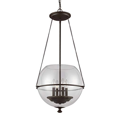 Sea Gull Lighting 6511904-715 Havenwood Four Light Pendant Hanging Modern Fixture, Autumn Bronze