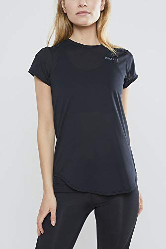 Craft Damen CHARGE SS RN TEE W black S T-shirt, S