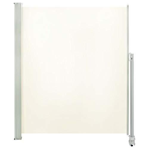 vidaXL Tenda da Sole Laterale Retrattile 160x300 cm Crema Parasole Frangivento