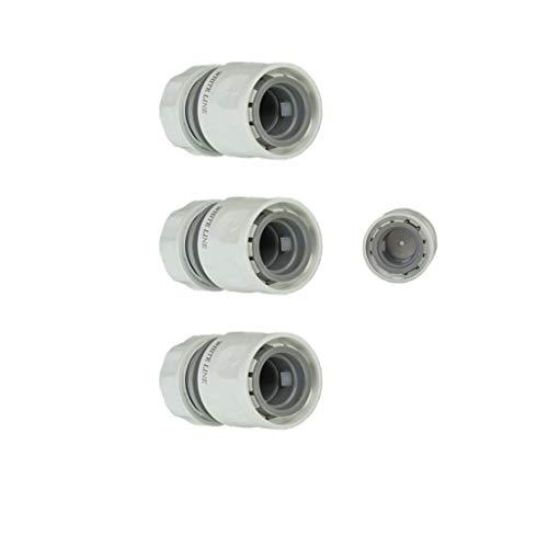 Preisvergleich Produktbild CS Bewässerungssysteme GmbH Schnellschlauchstück White Line 1 / 2 Zoll mit Durchflussreduzierung 3er Set