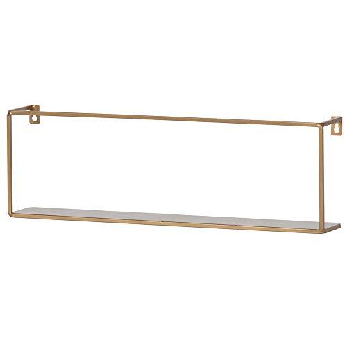 De Eekhoorn Wandregal Meert 50 cm Metall goldfarben Bücherregal Regal Ablageboard
