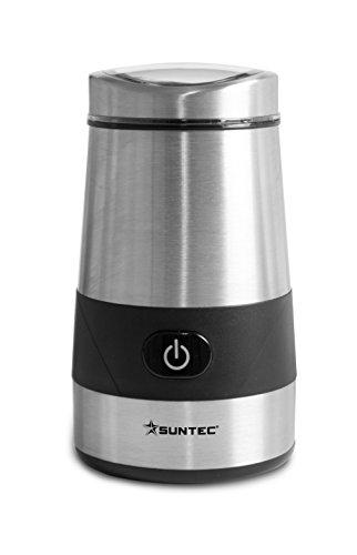 SUNTEC Kaffeemühle elektrisch | Elektrische Kaffee Mühle aus Edelstahl | Bohnen Zerkleinerer für Kaffeemaschine | Maschine als Gewürzmühle verwendbar | Behälter für bis zu 60g Kaffeebohnen | KML-8403