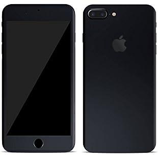 Textured skin sticker for iPhone 7 & 7+ plus Full Body Wrap (iphone 7, matt black):Superclub