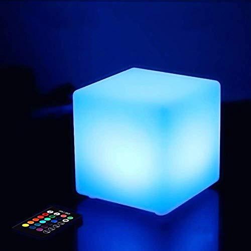 QAZX Akku-Wireless-Dekoration Dimming Stimmung Lampen Fernbedienung, Romantische Nachtlicht-Farbveränderliche LED Magic Cube Tischleuchte Kinder Licht IP65 Schutzgrad (Größe : 50 x 50 x 50CM)