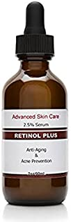 Retinol Cream 2.5% (2.oz bottle) with Vitamin C Serum 20% , Salicylic Acid 2%, 3.5% Niacinamide B3, 10% MSM and Tea Tree Oil - Anti Aging and Skin Clearing Serum for Face, Acne & Blemishes , Best Retinol serum for face