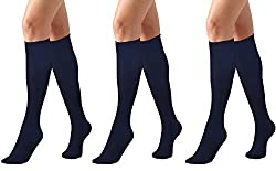 Opaque microfiber knee high socks Available in 3 packs or 5 packs Soft, comfortable, strechy, breathable One size Comfort cuffs, reinforced toes The thigh socks are suitable for both daily or special occasions. It can be matched with all kinds of clo...