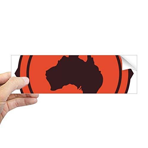 DIYthinker Australië Smaak Kaart Embleem Illustratie Rechthoek Bumper Sticker Notebook Window Decal