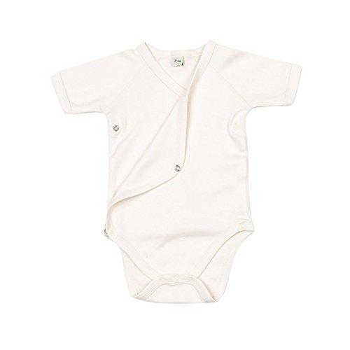 Babybugz - Tutina con chiusura a kimono maniche corte - Neonati/Unisex (3-6 mesi) (Naturale)