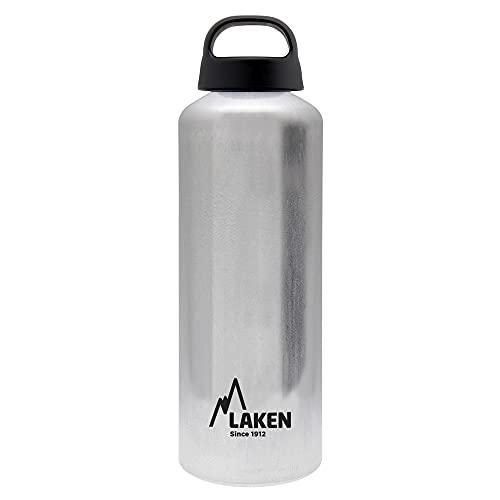 Laken Classic Botella de Agua Cantimplora de Aluminio con Tapón de Rosca y Boca Ancha, 0,75L Aluminio